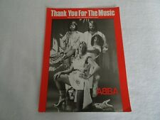 More details for abba thank you for the music sheet music 1977 very rare voyage gold