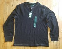 Medieval Green Canyon Button Mock Sweater Sz M $75 BASS /& CO NWT Mens G H