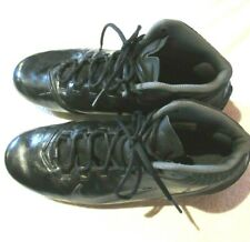 Men's Nike Molded Spikes Cleats Soccer Shoes ~ Black and Grey ~ Size 11
