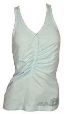 North Sails  Canotta top t-shirt Canottiera spalla larga azzurra Donna Cotone S