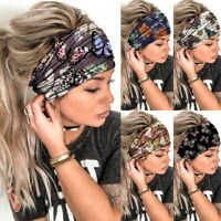 Damen Mode Wide Haarbänder Stirnband Turban Haarschmuck Multi Haarband Turban//