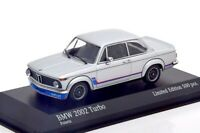 1:43 MINICHAMPS 1973 BMW 2002 Turbo (E20) silver L.E. 500 pcs ck-modelcars Excl.
