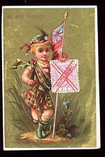 image chromo Au Bon Marché . Angleterre . Timbre . Stamp