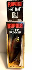 "Vintage (Finland) Rapala 2-3/4"" Silver Fat Rap Deep Runner Fishing Lure FR-7 S"