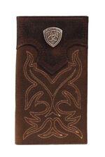 Ariat Men's Dark Brown Rodeo Boot Stitch Wallet