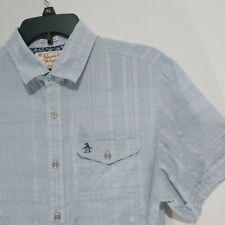 Penguin cotton Gauze plaid shirt Size M