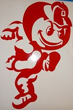 Ohio State Brutus Mascot Logo Corn Hole (Bag Toss) Vinyl Decals set of 2 OSU