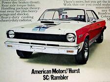 1969 AMC HURST SC/RAMBLER 390 V8 ENGINE/VINTAGE AD-poster/print/picture/sign-70