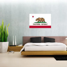 "California State Flag Wall Decal Large Vinyl Sticker 25"" x 17"""