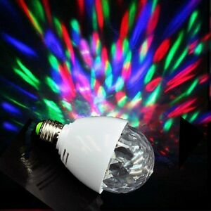 XL-15 Crystal Ball Stage Lights LED Full color Rotating Party Lamp Bulb