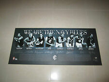 CARLTON WE ARE THE NAVY BLUES HAND SIGNED PRINT CHRIS JUDD GREG WILLIAMS DOULL