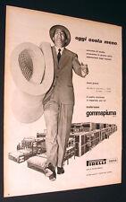 ADVERTISING PUBBLICITA' 1956 MATERASSO GOMMAPIUMA PIRELLI - CM. 33 X 25