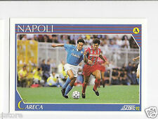 RARE '92 SCORE TRADING CARD OF BRAZILIAN 'CARECA' WITH NAPOLI - ITALY IN NM/M
