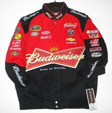 XL NASCAR Kevin Harvick Bud Budweiser EMBROIDERED Cotton Jacket XL JH Design