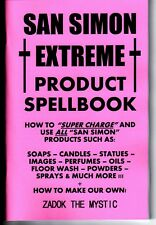 THE SAN SIMON PRODUCT SPELLBOOK book how to use oil candle soap incense & make!