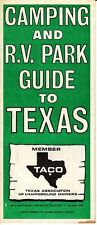 Camping R.V. Park Guide to Texas TACO Vintage Brochure