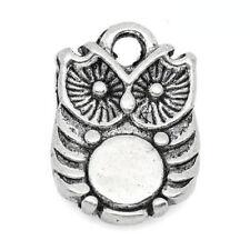Modeschmuck-Halsketten & -Anhänger für Damen mit Eulen-tibetanischem Silber