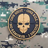 3D PVC I DECIDE.ONE KILL. ONE SHOT.NO REMORSE TACTICAL MORALE RUBBER HOOK PATCH