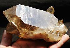 708.3g New Find NATURAL Clear Golden RUTILATED QUARTZ Crystal Cluster Specimen