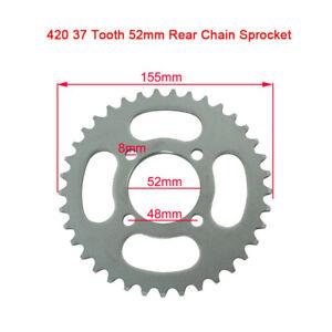 420 Chain Rear Sprocket 37 Tooth For 110 125cc ATV Pit Bike Taotao Buyang Baja