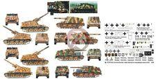 Peddinghaus 1/48 Sd.Kfz.165 Hummel German SPG WWII Markings (5 vehicles) 2354