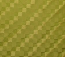 "SQUARES CITRUS GREEN CHECKER CHECK JACQUARD MULTIUSE FABRIC BY THE YARD 55""W"