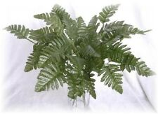 12 Green Leather Fern Leaves Stem Wedding Centerpiece Artificial Greeneries