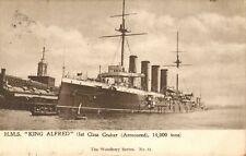 "1903 postcard - "" h.m.s. king alfred "" 1st class cruiser !"