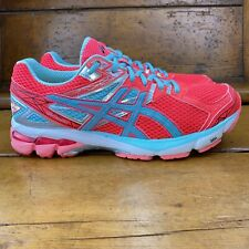 Asics Womens GT 1000 Running Shoes Diva Pink Ice Blue Low Top Lace Up Size 10