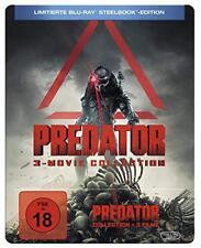 Steelbook Predator 1 2 3 Trilogía Arnold Schwarzenegger Limited 3 Blu-Ray Caja