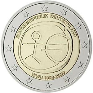 Germania 2009 Monnaie : G Emu Dixième Anniversaire Union Economique Et Monétaire