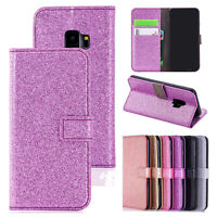 Bling Glitter Leather Wallet Phone Flip Case Cover For Samsung S9/S8/Note 10/S10