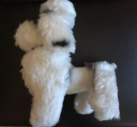 White Poodle Toy Dog Stuffed Poodle Animal Plush Soft Puppy White Gift 12""