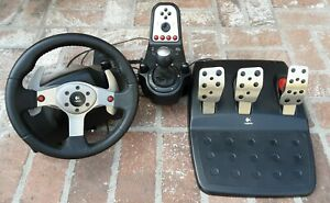 Logitech G27 Racing Wheel, Shifter, and Pedals Great System Used for an hour.