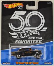 "2018 Hot Wheels: '55 CHEVY BEL AIR GASSER ""Blue"" - 50th FAVORITES Exclusive NEW"