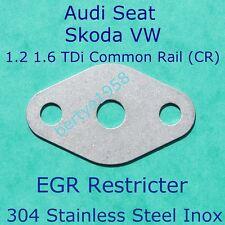 EGR Valve Restricter Plate For 1.2 1.6 TDi CR VW Seat Skoda Audi Golf A1 A2 A3