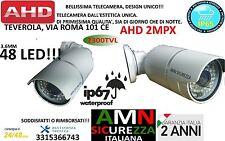 TELECAMERA VIDEOSORVEGLIANZA AHD 2MPX 3,6mm ALTA QUALITA' 48 LED INFRAROSSI