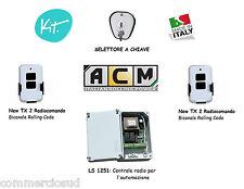 kit Centrale Selettore Telecomando x l'automazione serrande saracinesche ACM