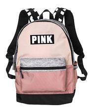 Victoria's Secret Campus PINK & GREY MARL Logo Backpack Large Bookbag Tote 2017