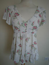 Gorgeous White/ Floral Summer Blouse- RIVER ISLAND- Size 12