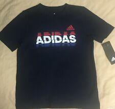 NWT Adidas USA Shirt Boys Navy Blue/Red/White Grafix 3676/77