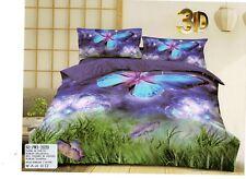Bettwäsche-Set, 200x220, 3 Teile ,Schmetterling