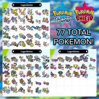 Regional Shiny Legendary Pokemon | 6 IV | Pokemon Sword and Shield