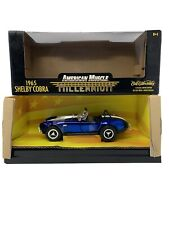 1:18 ERTL American Muscle Millenium 1965 Shelby Cobra Blue 32237