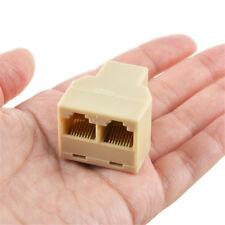 2 Port RJ45 Ethernet LAN Network Connector Splitter Adapter Splitt 1 Cable to 2