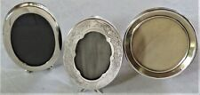 3 ANTIQUE STERLING SILVER SMALL PICTURE PHOTOGRAPH PHOTO FRAMES GREAT CONDITION