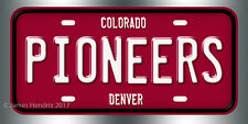University of Denver Pioneers Denver Colorado NCAA License Plate