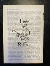 """""""Tee-Riffic"""" Golf  Quote & Golfer -Print Vintage Book Page Wall Art"""