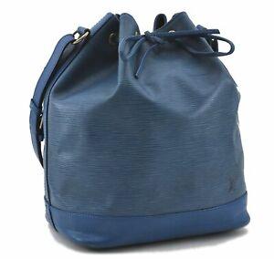 Authentic Louis Vuitton Epi Noe Blue Shoulder Bag M44005 LV D7556