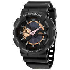 Casio G-Shock Black Dial Resin Men's Watch GA110RG-1A